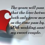 20th Wedding Anniversary Wishes For Wife Facebook