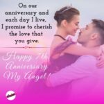 7th Wedding Anniversary Wishes For Wife Pinterest