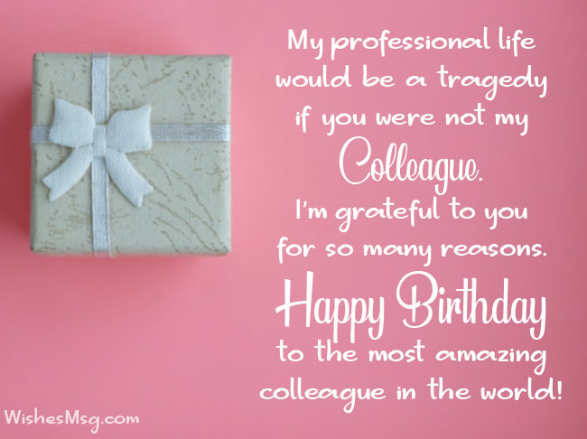Birthday Wishes For Coworker Pinterest