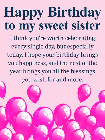 Happy Birthday Sweet Sister Twitter