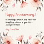 Happy Wedding Anniversary Sister In Law Facebook