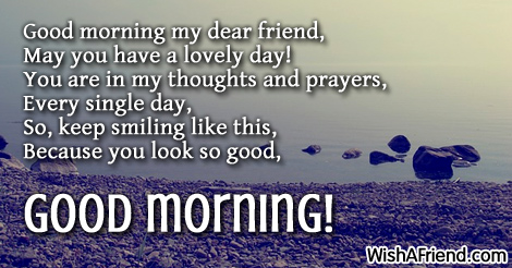 Sweet Good Morning Message To A Friend Twitter